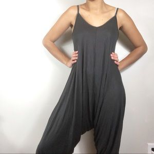 Anthropologie Black Stretchy Jumpsuit Small Crop